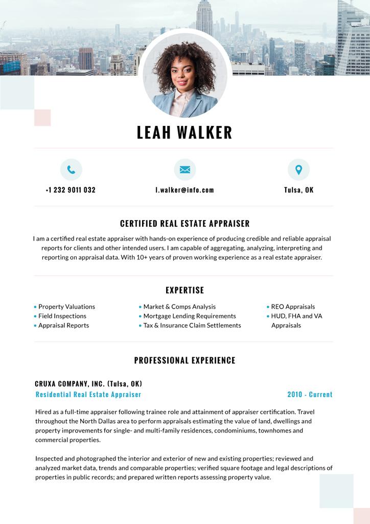 Real Estate skills and experience — Créer un visuel