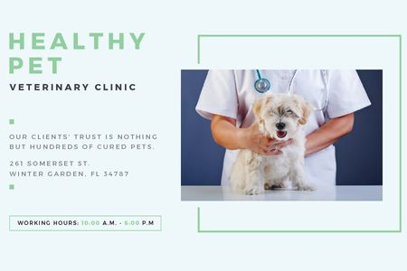 Healthy pet veterinary clinic Gift Certificateデザインテンプレート