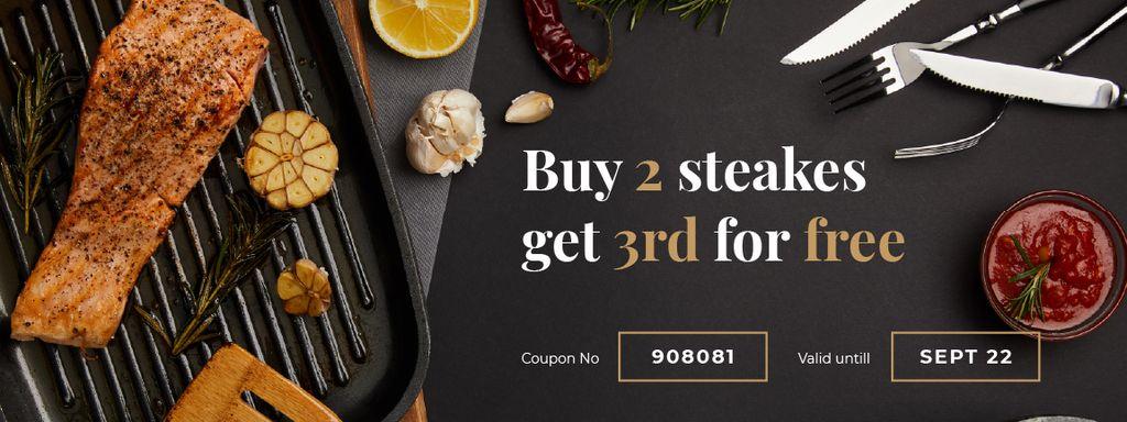Food Offer with Juicy Steak - Vytvořte návrh