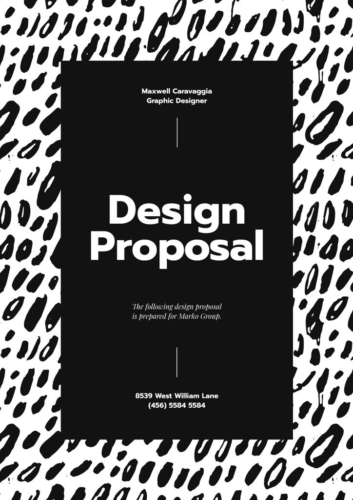 Designer Services offer on abstract Painting Proposal – шаблон для дизайну