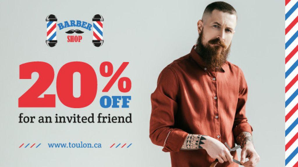 Barbershop Ad Stylish Bearded Barber — Створити дизайн