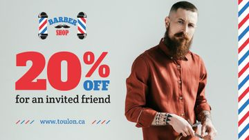 Barbershop Ad Stylish Bearded Barber | Blog Banner
