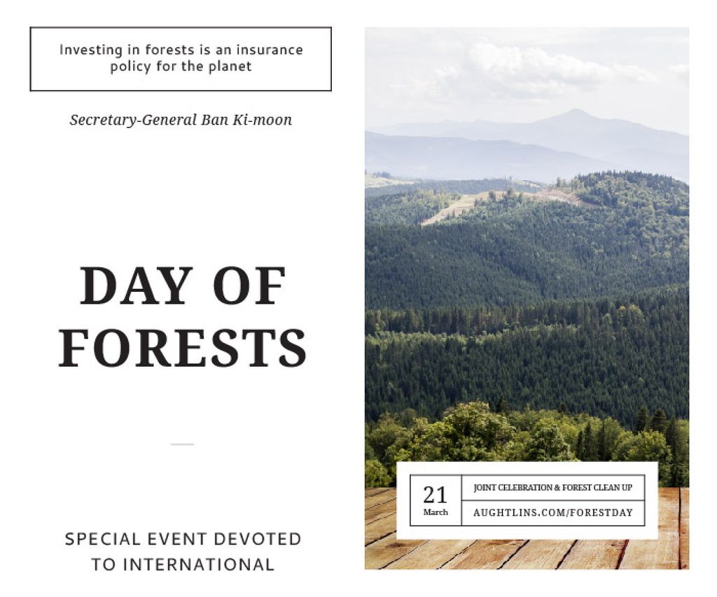 International day of forests — ein Design erstellen