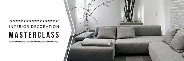Designvorlage Interior decoration masterclass für Email header
