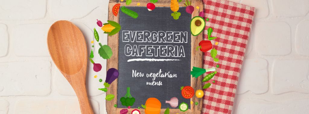 Vegetable Menu Frame with Chalkboard | Facebook Video Cover Template — Créer un visuel