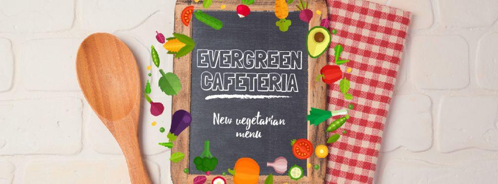 Vegetable Menu Frame with Chalkboard — Создать дизайн