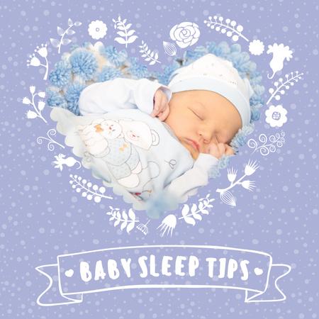 Ontwerpsjabloon van Instagram AD van Cute baby sleeping