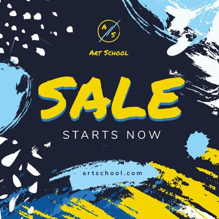 Sale Offer on Colorful paint blots Instagram Design Template