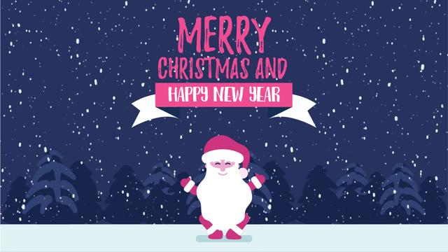 Christmas Greeting Funny Jumping Santa Claus Full HD video Design Template