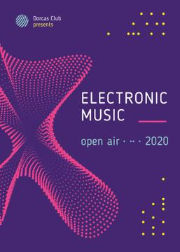 Electronic Music Festival Digital Pattern