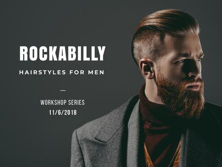 Hairstyles for men Offer Presentation Tasarım Şablonu