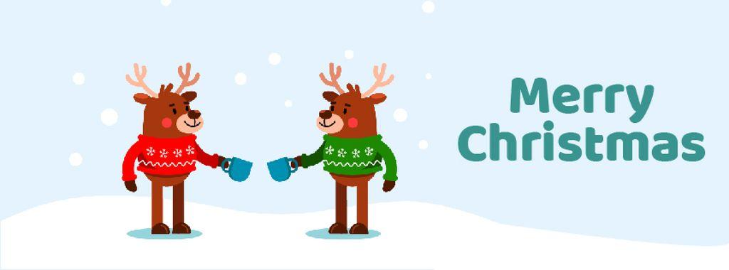 Happy deer in Christmas sweaters — Crear un diseño