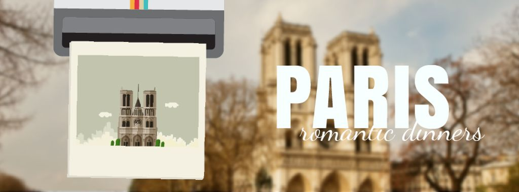 Tour Invitation with Paris Notre-Dame — Создать дизайн