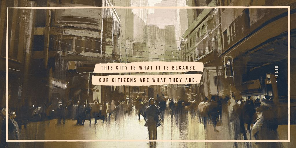 People walking on city street — Maak een ontwerp