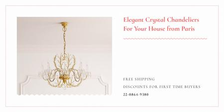 Elegant crystal chandeliers from Paris Image Design Template