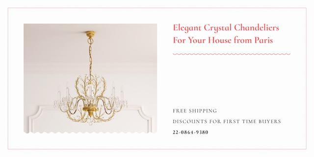 Elegant crystal chandeliers from Paris Image Modelo de Design