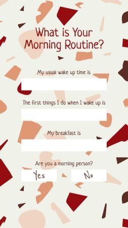 Form about Morning Routine Instagram Story Modelo de Design