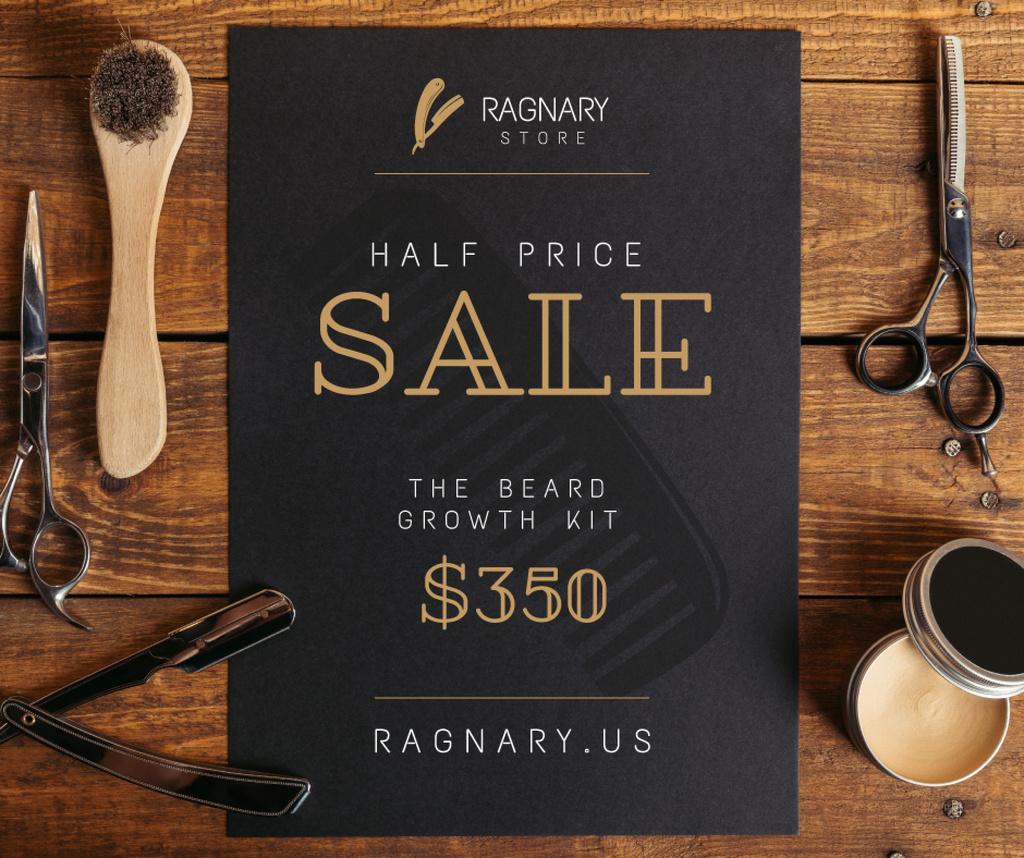 Barbershop Professional Tools Sale Facebookデザインテンプレート