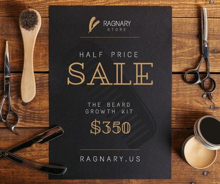 Ontwerpsjabloon van Facebook van Barbershop Professional Tools Sale