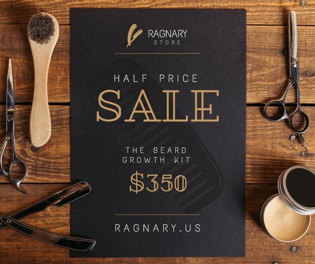 Barbershop Professional Tools Sale Facebook Tasarım Şablonu