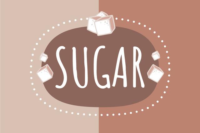 Template di design Sugar brand promotion Label