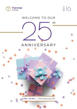 Anniversary Celebration Invitation Pile of Presents | Invitation Template