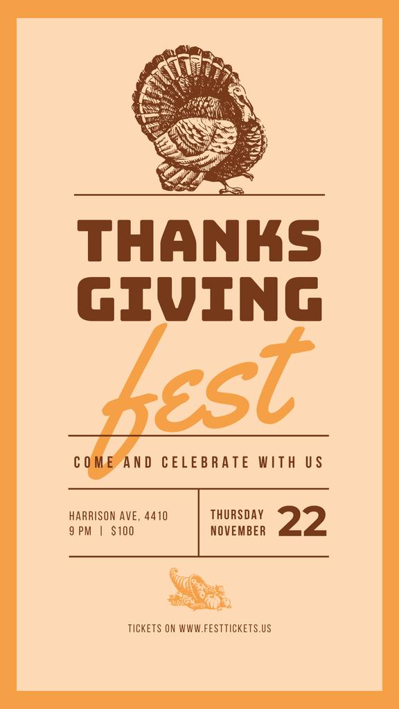 Thanksgiving greeting card Instagram Story Modelo de Design