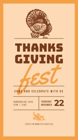 Plantilla de diseño de Thanksgiving greeting card Instagram Story
