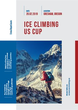 invitation to ice climbing up cup