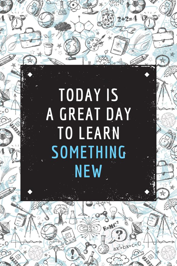 Citation about great day to learn something new — Maak een ontwerp