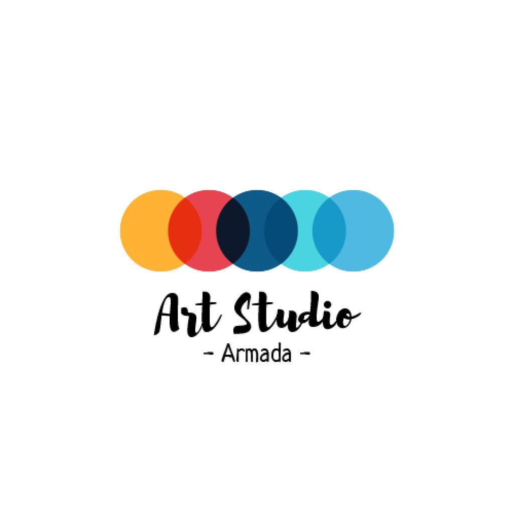 Art Studio Ad Colorful Circles – Stwórz projekt