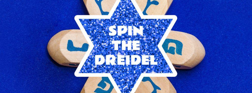 Happy Hanukkah dreidels — Modelo de projeto