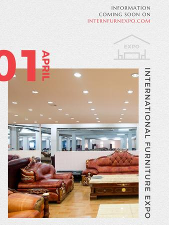 Furniture Expo invitation with modern Interior Poster US – шаблон для дизайну