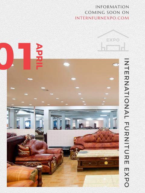 Ontwerpsjabloon van Poster US van Furniture Expo invitation with modern Interior