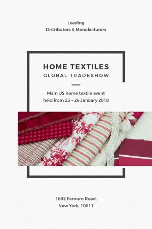 Home Textiles Event Announcement in Red Tumblr Tasarım Şablonu