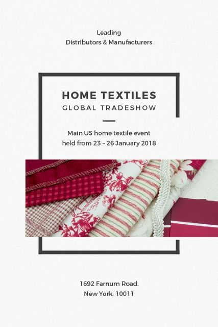 Home Textiles Event Announcement in Red Tumblr Tasarım Şablonu