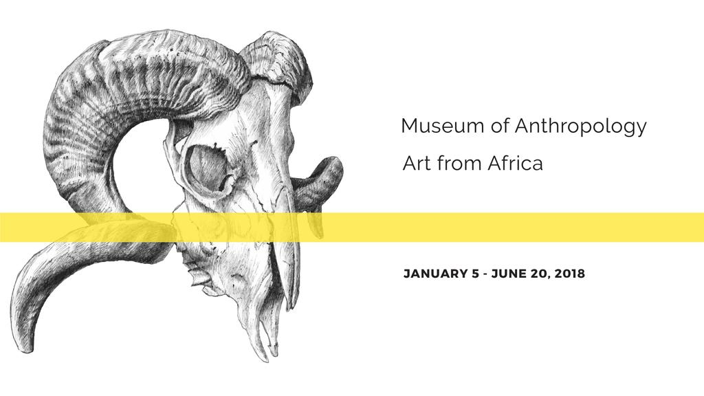 Museum invitation with animal Skull — ein Design erstellen