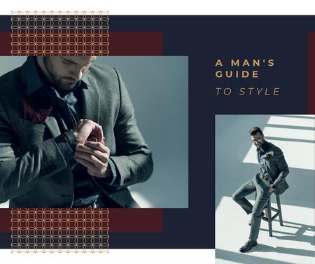 Plantilla de diseño de Handsome Man wearing Suit Facebook