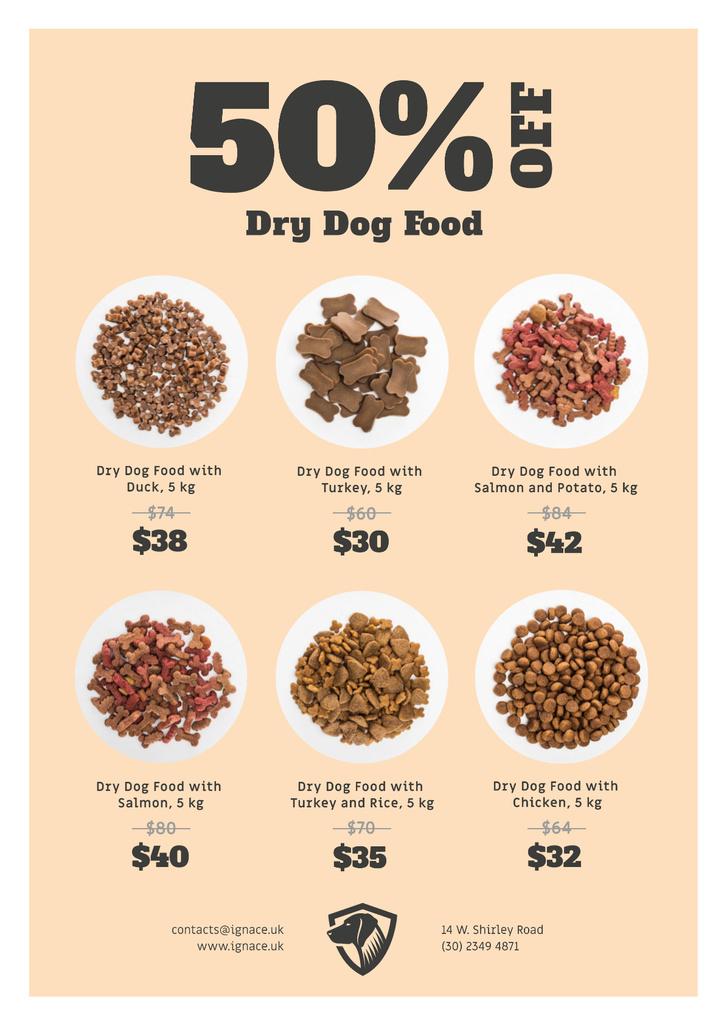 Pet Food Sale Announcement Poster Modelo de Design