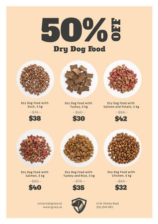 Plantilla de diseño de Pet Food Sale Announcement Poster