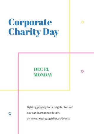 Plantilla de diseño de Corporate Charity Day Poster