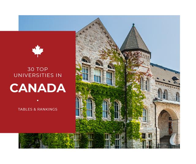Modèle de visuel Top universities guide with Campus building - Facebook