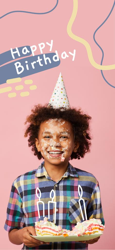 Little boy celebrating Birthday Snapchat Moment Filter – шаблон для дизайну