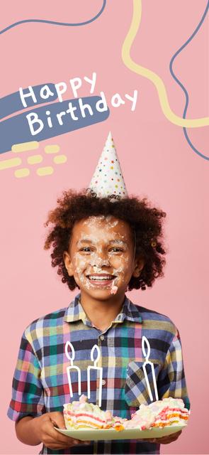 Little boy celebrating Birthday Snapchat Moment Filterデザインテンプレート