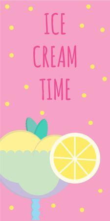 Ontwerpsjabloon van Graphic van Sweet ice cream in glass