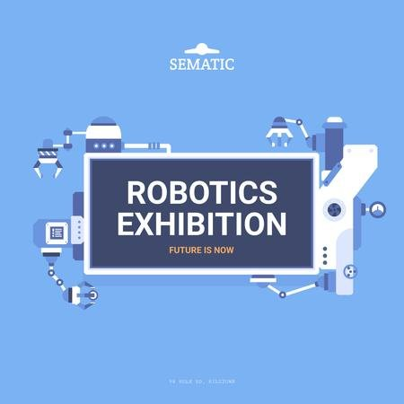Robotics Exhibition Announcement Instagram Tasarım Şablonu