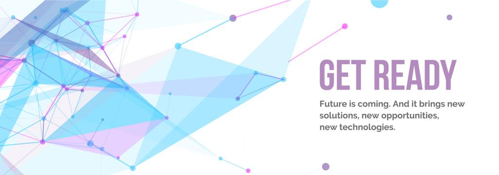 Future Technologies Theme Geometric Pattern | Tumblr Banner Template — ein Design erstellen