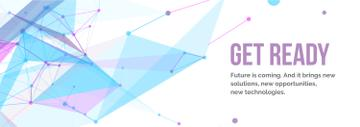 Future Technologies Theme Geometric Pattern | Tumblr Banner Template