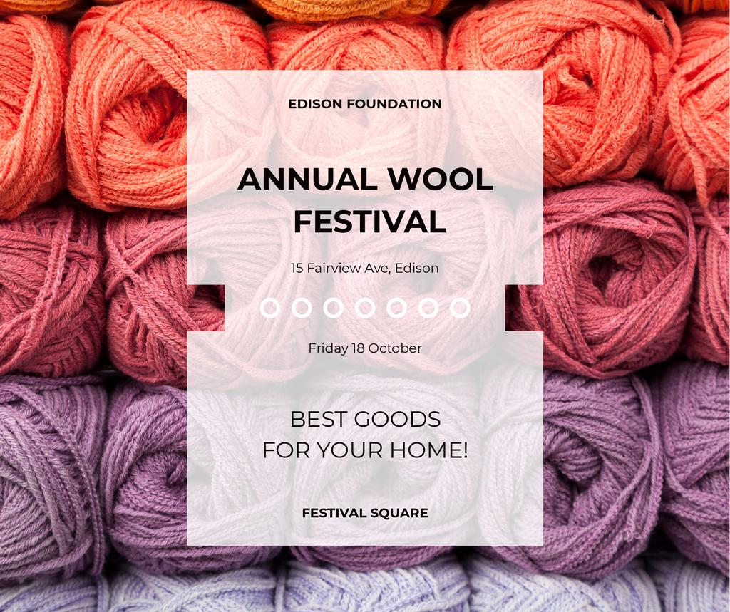 Knitting Festival Wool Yarn Skeins — Crear un diseño