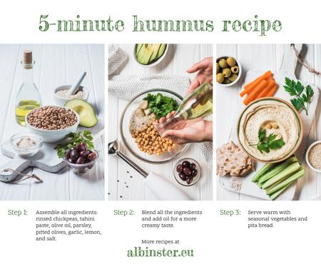 Hummus Recipe Fresh Cooking Ingredients Facebook Modelo de Design